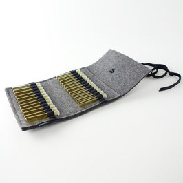 Taschen-Apotheke für Globuli 'samuel' 24   dunkelgrau_schwarz