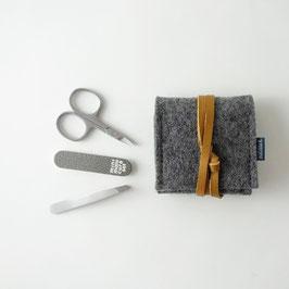 mini-maniküre-set 'ella' dunkelgrau_hellbraun