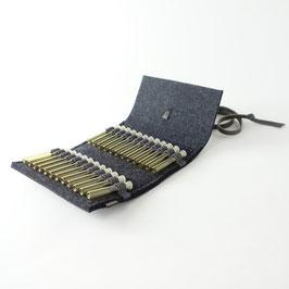 Taschen-Apotheke für Globuli 'samuel' 24   anthrazit_grau