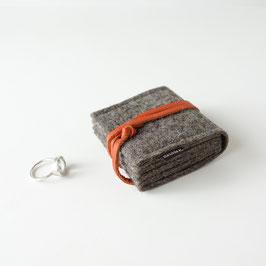 schmucknest klein 'margarete' braun_orange