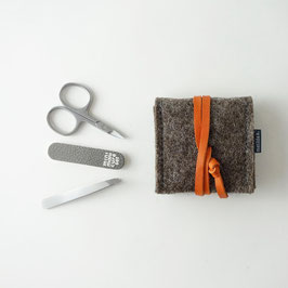 mini-maniküre-set 'ella' braun_orange