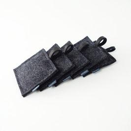lavendelkissen 'smilla'  anthrazit schwarz 5 Stück