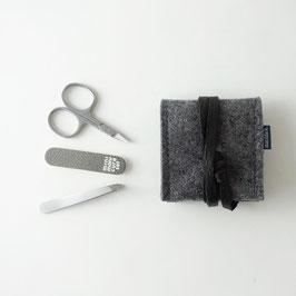 mini-maniküre-set 'ella' dunkelgrau_schwarz