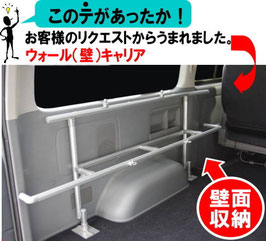 タイヤハウス・キャリア(ハイエース用・左面)