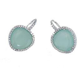 Noela silver aqua green