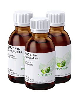 3 x 100 ml DMSO 99,9% - Dimethylsulfoxid