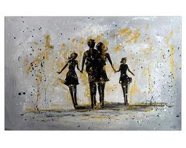 Familien Harmonie Menschen Eltern Gemälde 120x80