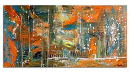 Wallstreet abstrakte Malerei Original Gemälde 100x50