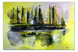 Galaxy Wandbild XXL abstrakte Kunst 90x130