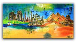 Kairo - Stadt Bild Gemälde Malerei 50x100