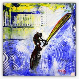 Windsurfer Surfer Sport Bilder Malerei 50x50