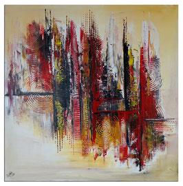 Feuerfront abstrakte Kunst Malerei Modern 100x100