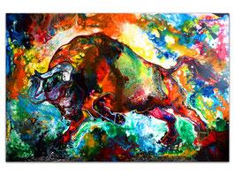 Veneno Wilder Stier abstrakt Torro Bulle 150x100