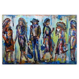Streewalk Frauen Bilder Leinwand Menschen 120x80