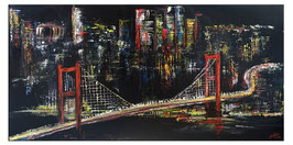 Istanbul at Night Modernes Städte Acrylbild 120x60