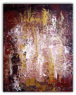 Bernsteinhöhle Abstrakte Kunst Malerei 40x50 Acrylbild
