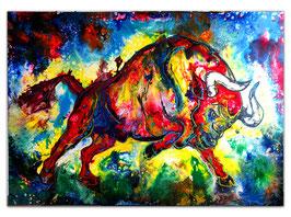 Huracan Wilder Stier Bulle Torro Leinwandbild 150x100