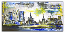 Moskau Skyline - Stadt Bild Malerei 50x100
