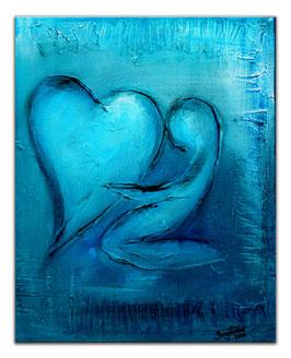 204 Herzbild Valentinstag Geschenk handgemalt 40x50