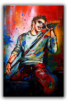 Sänger Musiker Gemälde Bilder Malerei 65x100