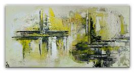 Infinion Abstrakte Malerei Wandbild Kunstbild 50x100
