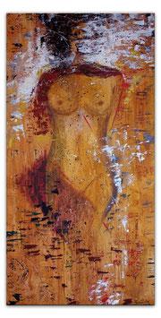 Enthüllung - Erotische Malerei 50x100 Gemälde
