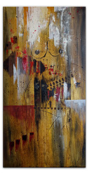 Brüste Frau abstrakt Gemälde Wandbild Malerei 50x100