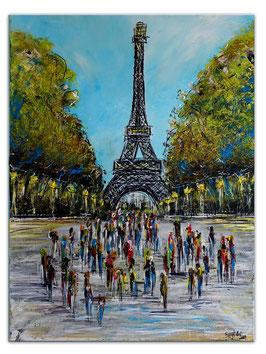 Paris Eiffelturm Malerei Kunst Bild Wandbild 60x80