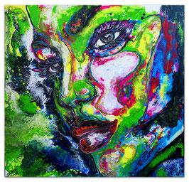 Nelly moderne Porträt Malerei Gesicht abstrakt 80x80