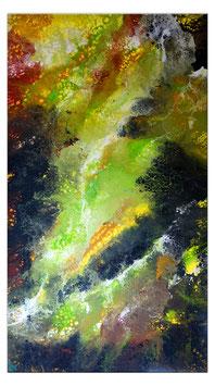 Borneo abstrakte Kunst Malerei Acrylbild grün 80x140