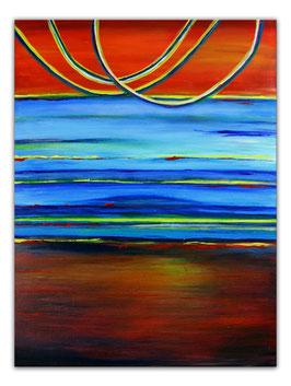 Spaceland - Abstrakte Kunst Malerei 60x80 Acrylbild