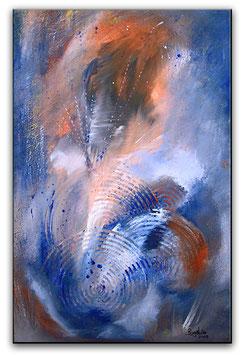 Winterhimmel abstrakte Kunst Malerei 40x60 preiswert