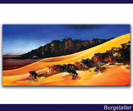 Sahara 2 - Wüsten Bild Landschaft Malerei 40x80