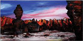 Tassilli - Wüsten Bild Gemälde Malerei 40x80