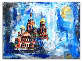 St. Petersburg Auferstehungskirche - Umdruck Bild 60x80