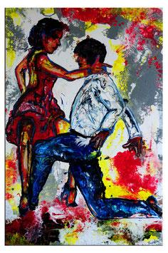Merengue 2 Tänzer Bild handgemalt Tanzbild 60x90