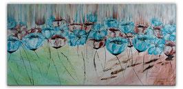 Blüten Blumen Malerei Acryl Gemälde Unikat 50x100