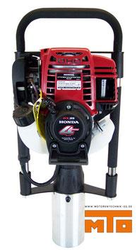 Pfahlramme mit Honda 4 Takt Motor Leistungsstark und handlich