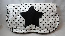 Kinderwagen-Muff Sterne weiss/schwarz