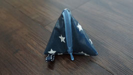 Pyramidentäschli d.blau Sterne