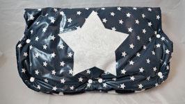 Kinderwagen-Muff Sterne d.blau/weiss