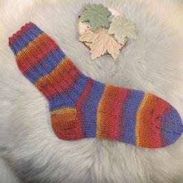 Socken 34/35 pink-lila-gelb-rot
