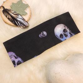 Stirnband Violet Skull