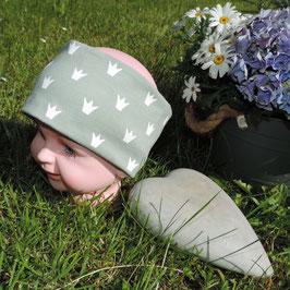 Kinder Stirnband Krönchen grün