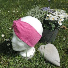 Turban Strick pink glitter