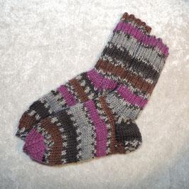 Socken 26/27 lila grau