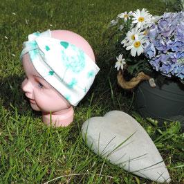 Kinder Turban Pustblume grün