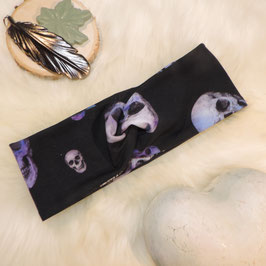 Turban Violet Skull