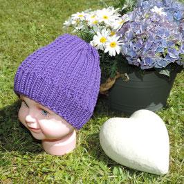Kinder Aspen Beanie violett