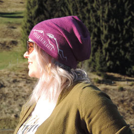 Beanie Mountain Lover magenta